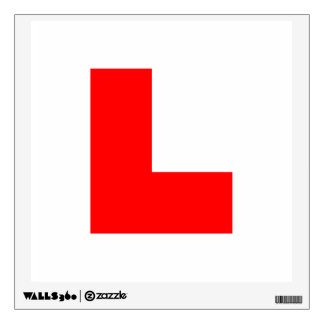 L-Plate Learner Driver / Bachelorette Hen Night Wall Sticker