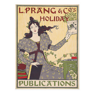L. Prang & Co's Holiday Publications Ad Vintage Postcard