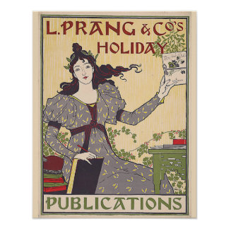 L. Prang & Co's Holiday Publications Ad Vintage Poster