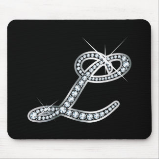 """L script """"Diamond Bling"""" Mouse Pad"""