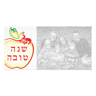 L Shana Tova tarjeta de la foto del panal de la m Tarjeta Personal Con Foto