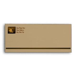 L – Superb Customizable Monogram Envelope