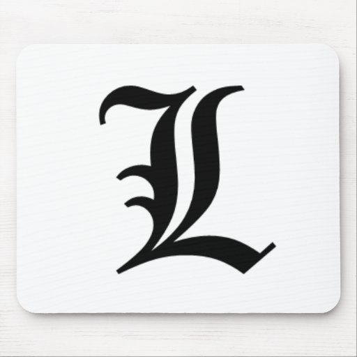 L-text Old English Mouse Pad