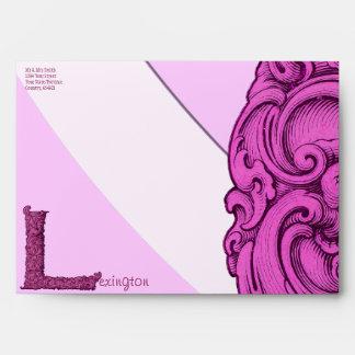 L - The Falck Alphabet (Pink) Envelope
