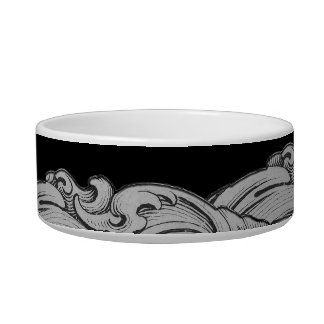 L - The Falck Alphabet (Silvery) Cat Water Bowls