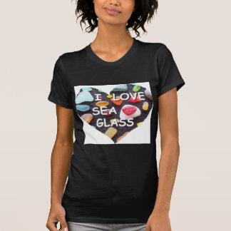 l VIDRIO del MAR del AMOR Camisetas