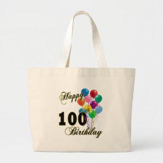 La 100a bolsa de asas feliz del cumpleaños