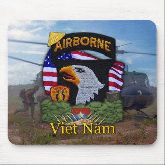 la 101a guerra de Vietnam de la división aerotrans Alfombrillas De Raton