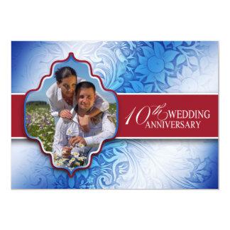 la 10ma foto del aniversario de boda invita invitación 12,7 x 17,8 cm