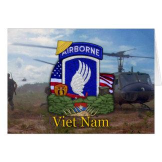 la 173a guerra de Vietnam de la brigada aerotransp Tarjetón