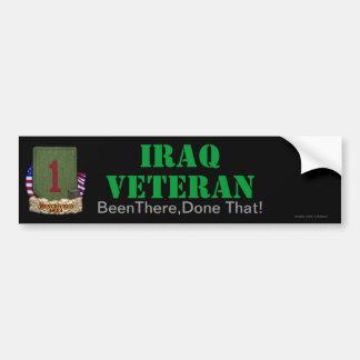 la 1ra división de infantería Iraq revisa a la peg Pegatina Para Auto