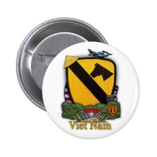 la 1ra división Vietnam de la caballería revisa el Pin Redondo De 2 Pulgadas