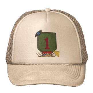 la 1ra guerra de Vietnam de la división de Gorros Bordados