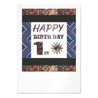 La 1ra plantilla feliz DIY del cumpleaños añade la Invitaciones Magnéticas