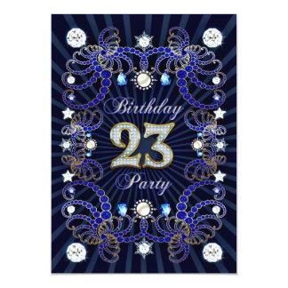 """la 23ro fiesta de cumpleaños invita con las masas invitación 5"""" x 7"""""""
