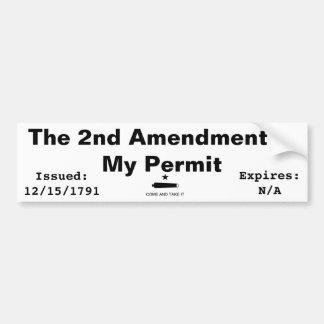 La 2da enmienda es mi permiso pegatina para auto