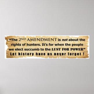 La 2da enmienda no está sobre las derechas del caz posters