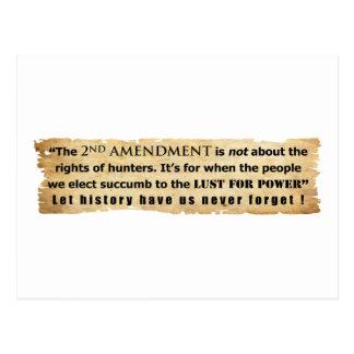 La 2da enmienda no está sobre las derechas del caz tarjetas postales