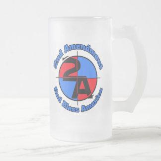 La 2da enmienda taza de cristal