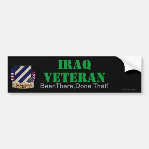 la 3ro división de infantería Iraq revisa a la peg Pegatina De Parachoque
