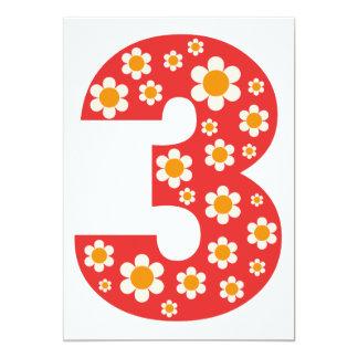 La 3ro fiesta de cumpleaños de las margaritas invitación personalizada