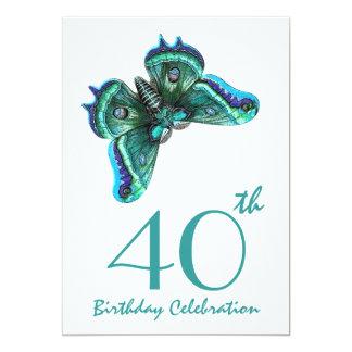 """la 40.a fiesta de cumpleaños de -49th invita a la invitación 5"""" x 7"""""""
