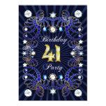 la 41.a fiesta de cumpleaños invita con las masas invitación personalizada