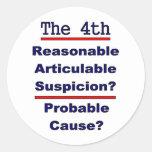 La 4ta enmienda etiqueta redonda