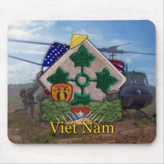 la 4ta guerra de Vietnam de la división de infante Alfombrilla De Raton