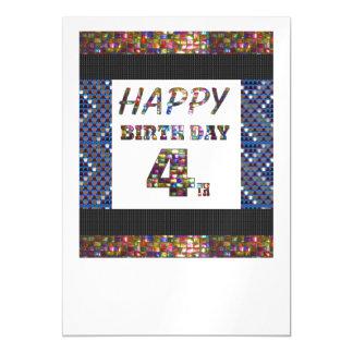 La 4ta plantilla feliz DIY del cumpleaños añade la Invitaciones Magnéticas