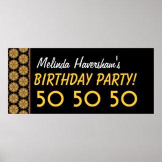La 50.a fiesta de cumpleaños del personalizado o c impresiones