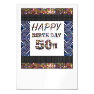 La 50.a plantilla feliz DIY del cumpleaños añade Invitaciones Magnéticas