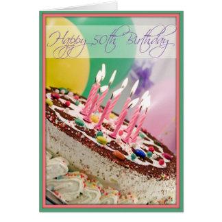 ¡La 50 a tarjeta del cumpleaños de la diva para Mu