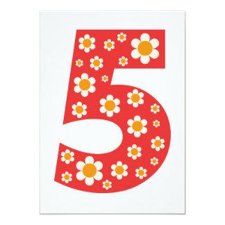 """La 5ta fiesta de cumpleaños de las margaritas invitación 5"""" x 7"""""""