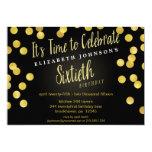 La 60.a fiesta de cumpleaños del confeti elegante invitación 12,7 x 17,8 cm