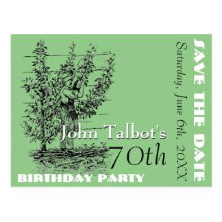 La 70.a reserva de la fiesta de cumpleaños del postales