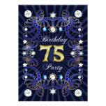 la 75.a fiesta de cumpleaños invita con las masas  anuncios personalizados