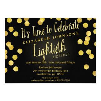 La 80.a fiesta de cumpleaños del confeti elegante comunicados personales
