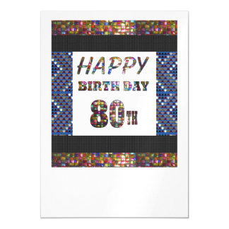 La 80.a plantilla feliz DIY del cumpleaños añade Invitaciones Magnéticas