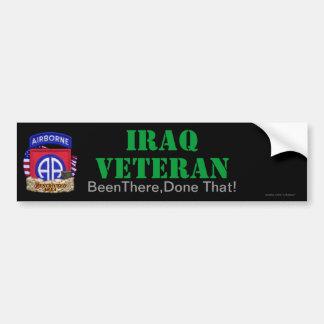 la 82.a división aerotransportada Iraq revisa a la Pegatina De Parachoque