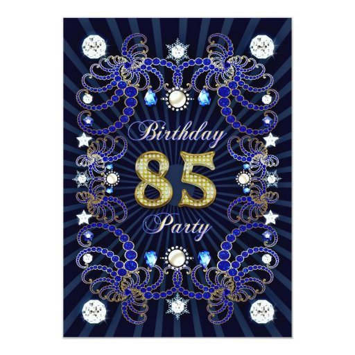 la 85a fiesta de cumpleaños invita con las masas invitación 12,7 x 17,8 cm