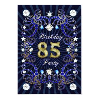 """la 85a fiesta de cumpleaños invita con las masas invitación 5"""" x 7"""""""