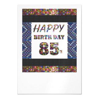 La 85a plantilla feliz DIY del cumpleaños añade la Invitaciones Magnéticas