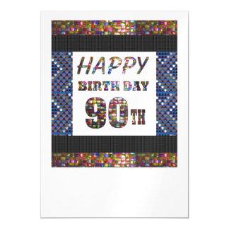 La 90.a plantilla feliz DIY del cumpleaños 90 Invitaciones Magnéticas