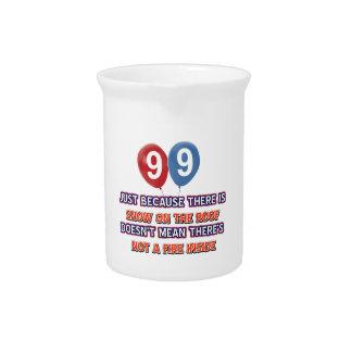 la 99.a nieve año en el cumpleaños del tejado jarron