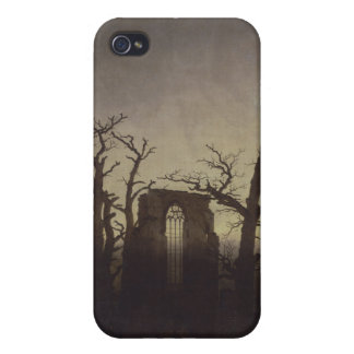 La abadía en la madera de roble - Caspar David Fri iPhone 4 Funda