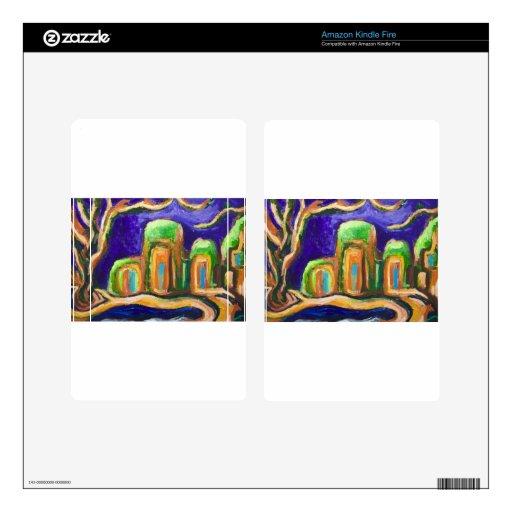 La abadía en la selva (paisaje abstracto) pegatina skin para kindle fire