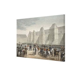 La abdicación de Napoleon y de su salida de Impresion De Lienzo