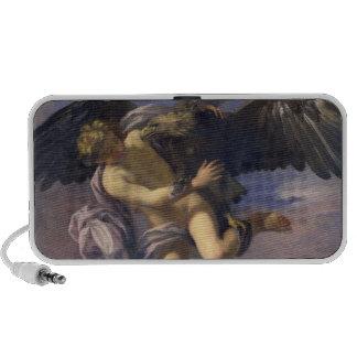 La abducción de Ganymede, 1700 (aceite en lona) Mini Altavoces