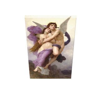 ` La abducción de la psique por Bouguereau Lona Envuelta Para Galerías